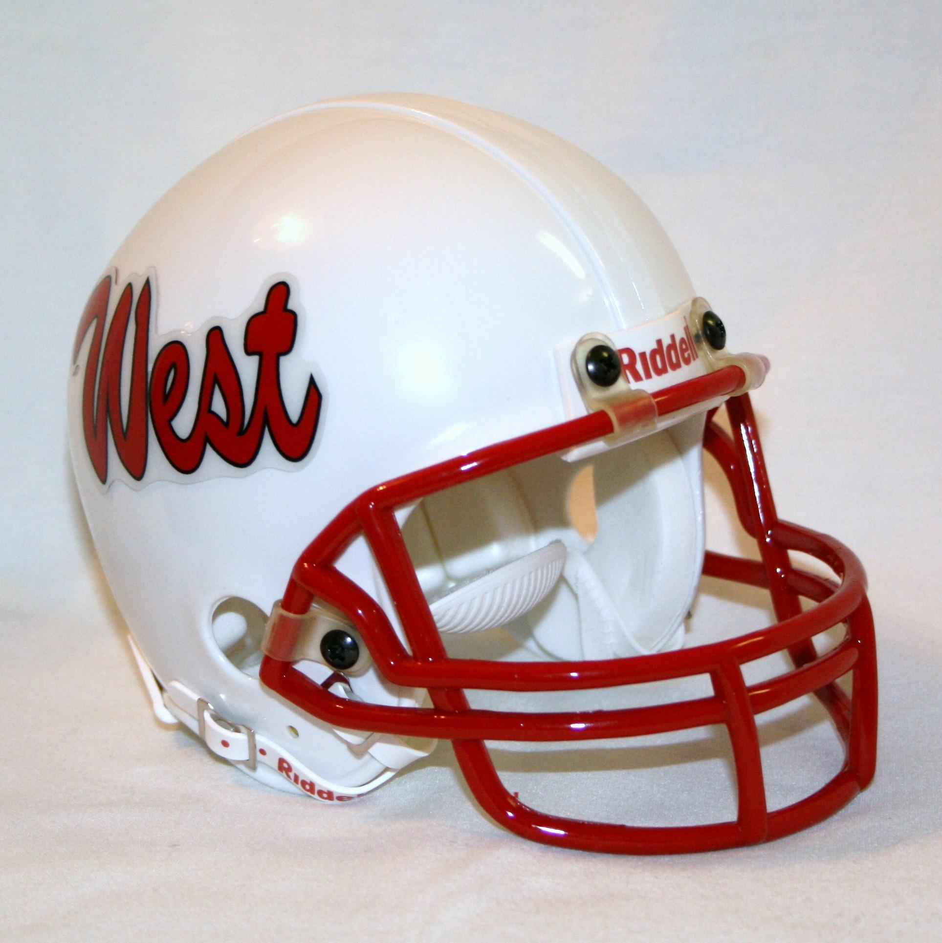 Custom football helmets